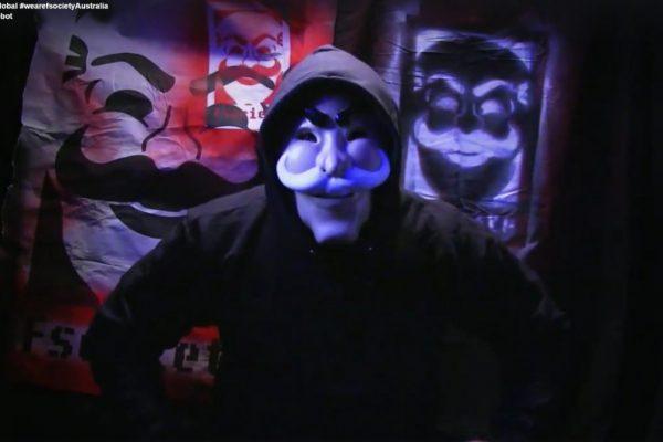 Le masque de fsociety dans la série Mr. Robot