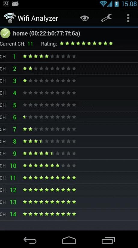 capture d'écran de Wifi Analyser