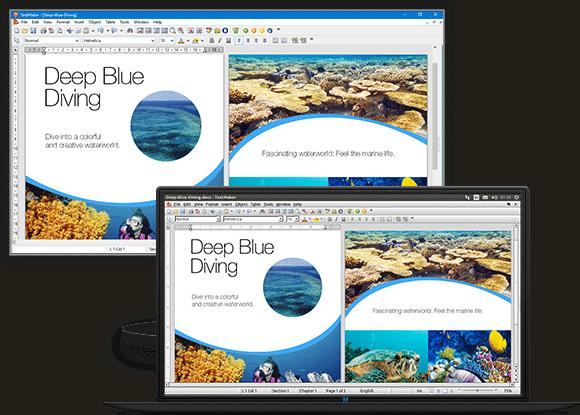 Capture d'écran du traitement texte TextMaker inclus dans SoftMaker Free Office, l'une des alternatives gratuites à Microsoft Office