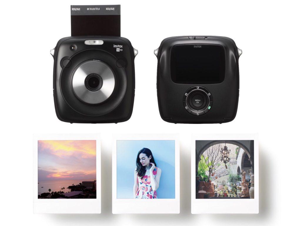 Le Fujifilm Instax Square SQ10 est un appareil photo instantané hybride numérique : il permet de retoucher les photos à l'écran, et de sélectionner celles que l'on veut imprimer