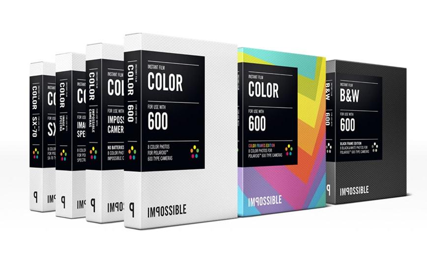 Les films Impossible Project pour Polaroid 600