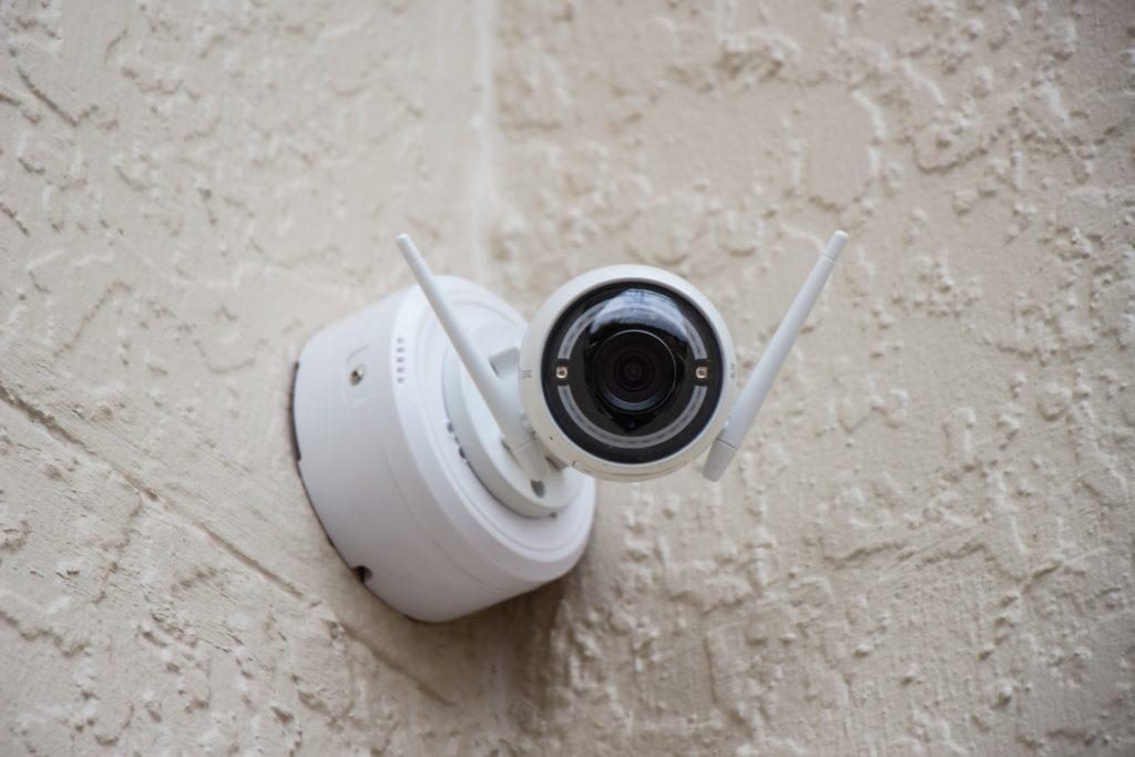 Caméra de surveillance sans fil.