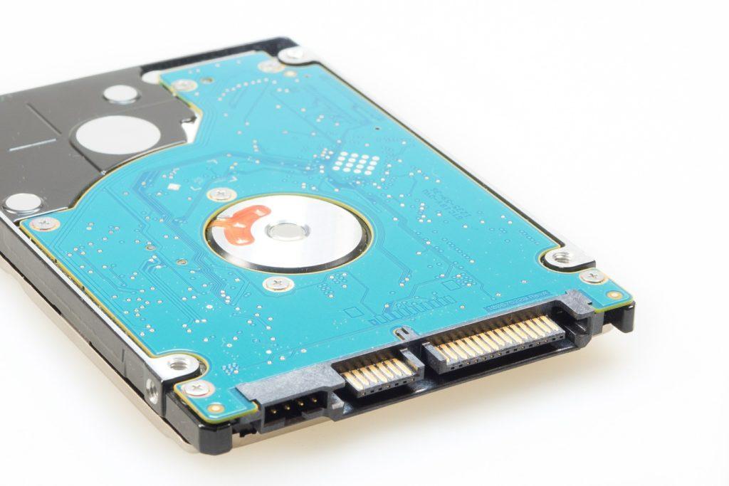 Connecteurs SATA d'un disque.